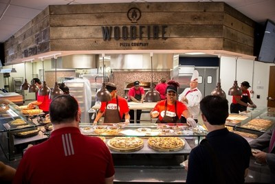 Woodfire Pizza Company was designed in-house by Sodexo at Liberty University. It is one of six new dining options that Sodexo brought to Montview Student Union this semester.