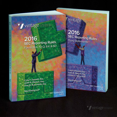 Request a free set of 2016 SEC Reporting Rules Guidebooks: Forms 10-K, 10-Q, 8-K, SD and Proxy Statements now. https://e.prnewswire.com/2016-SEC-GUIDEBOOKS.html
