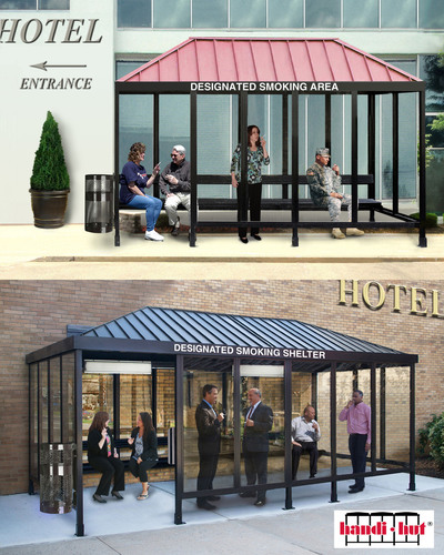 Hilton Worldwide Has Directed All Their Hotels To Install Smoking Shelters
