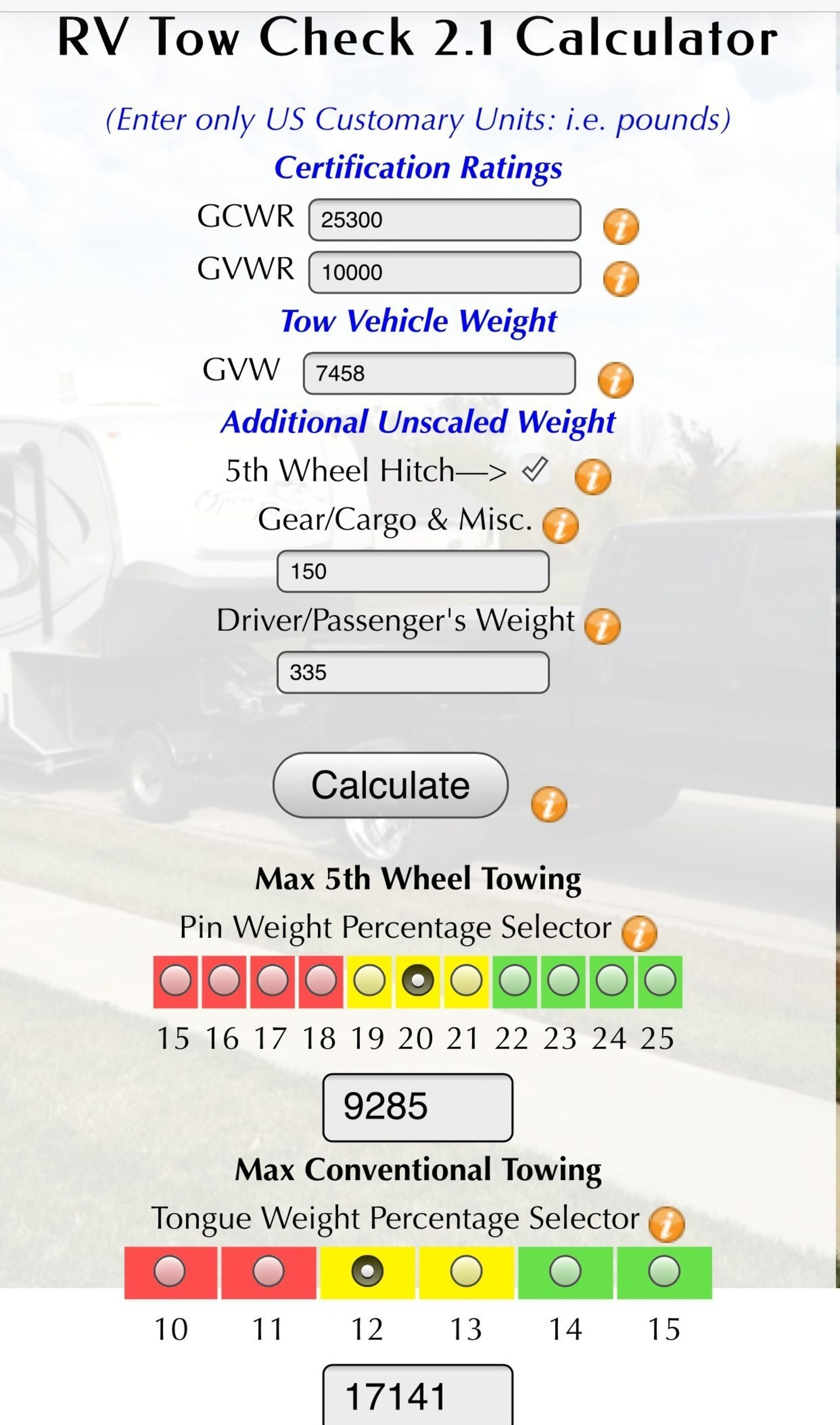 Fifth Wheel St. Rings in the New Year with RV Tow Check 2.1 App