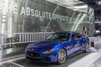 """Maserati Ghibli on Stage in Los Angeles at the Start of the """"Opposite of Ordinary"""" Era"""