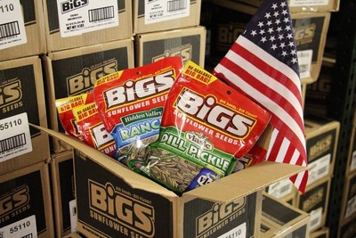 BIGS(R) donates 75,000 bags of seeds this Veterans Day to the USO, in honor of the USO's 75th anniversary and in support of the men and women who serve our country.