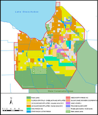 Map of landownership in the Everglades Agricultural Area