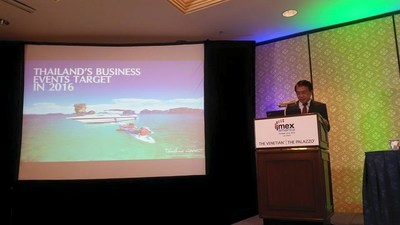 Thailand Convention and Exhibition Bureau or TCEB announced strong growth in business events visitors from the US. Making the announcement at IMEX America, TCEB also introduced its 'Thailand CONNECT…Our Heart Your World' brand communication campaign for the 2016 fiscal year, reasserting Thailand as a destination at the HEART of ASEAN among the international business community.