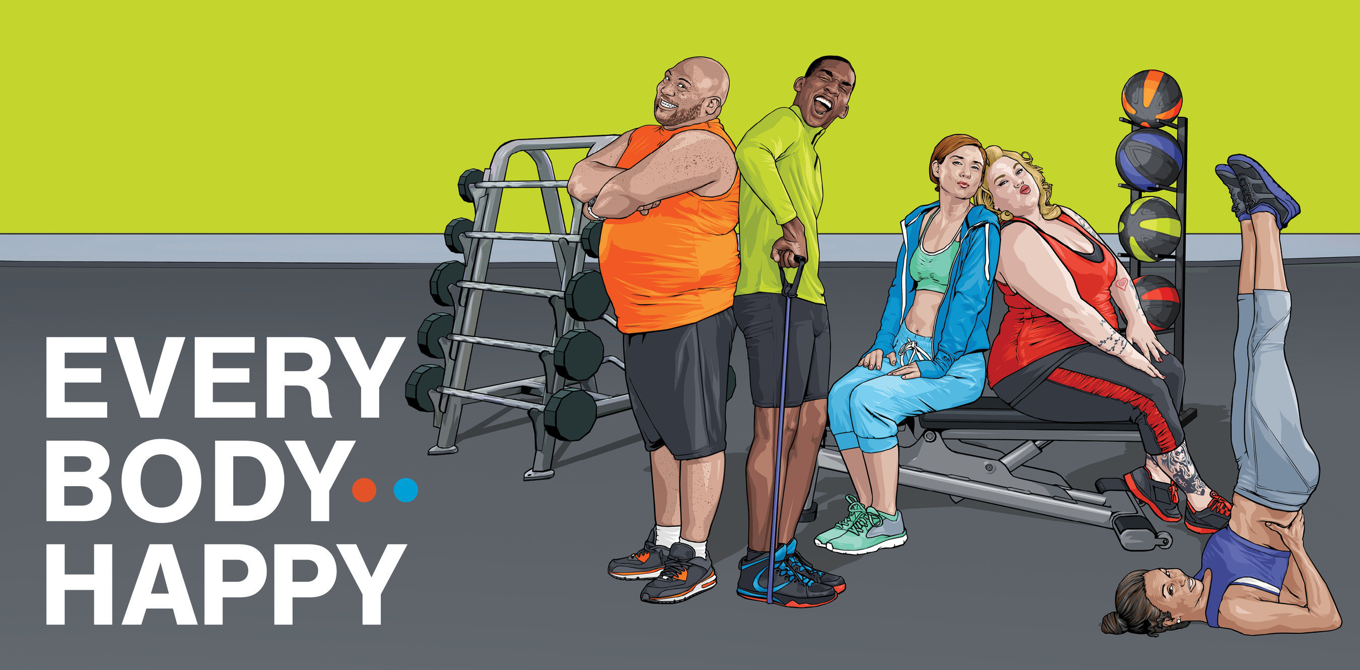 "Blink Fitness' ""Every Body Happy"" campaign images feature real people who come in all shapes and sizes."