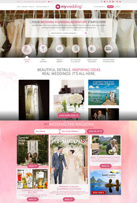 Preview of new mywedding.com website (PRNewsFoto/mywedding.com)