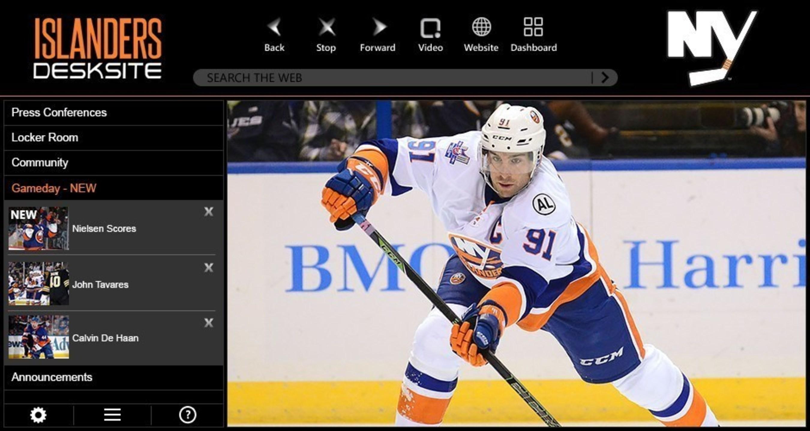 New York Islanders Launch New Video App With DeskSite