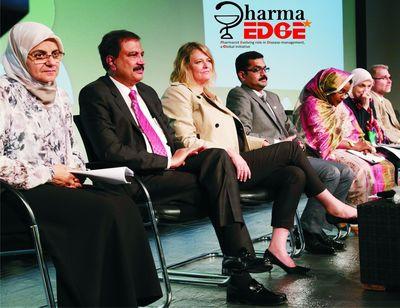 PR NEWSWIRE INDIA - (L-R)- Dr Nehad M. Hamoudi, Dr Azad Moopen, Dr Alexandra Pearce, Dr Sathvik B Sridhar, Dr Mariam Galadari, Dr Mahasin Ibrihim, Dr Geoffrey Wall