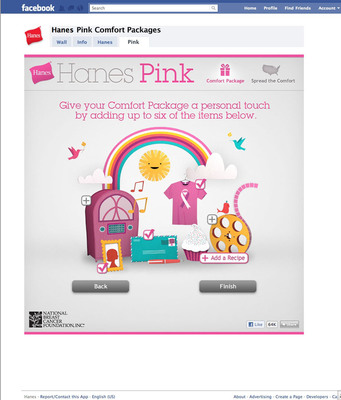 Hanes Comfort Package benefitting National Breast Cancer Foundation Inc.  (PRNewsFoto/Hanes)