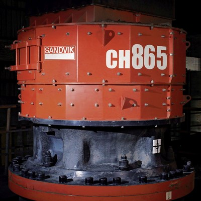 Sandvik medium-sized cone crusher is specially designed for high-reduction tertiary and pebble crushing (PRNewsFoto/Schenck Process GmbH)