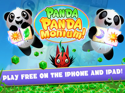 Equal parts adorable Pandas, angry Dragons, hand-crafted levels, and strategic depth - Panda PandaMonium is a game that is loosely inspired by the classic game of Mahjong. Accessible to all types of players, Panda PandaMonium reinvents the challenge of matching tiles and gives players new strategies to pursue. By matching pairs of magic tiles, players crash through obstacles, trigger bonuses and ultimately save cute and loveable pandas from very hungry dragons. (PRNewsFoto/Big Fish)