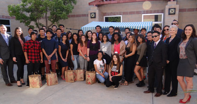 Cydcor the recognized leader  in outsourced face-to-face sales, along with Tom James Company donate $25,000 of business attire suprising 33 high school students with new business attire and advice on dressing for success at Pacifica High School in Oxnard. The students are members of Developing Entrepreneurial and Corporate Assets (DECA) Academy of Business, a program designed to teach students about business, as well as job and life skills to prepare them for college or the workforce.