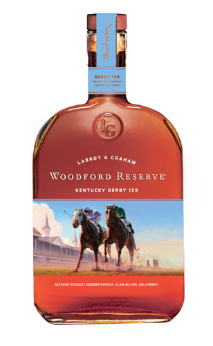Woodford Reserve bourbon releases limited edition 2013 Kentucky Derby bottle. (PRNewsFoto/Woodford Reserve) ...