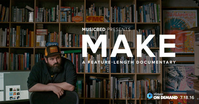 """Premiering July 18, 2016 on Vimeo on Demand, """"MAKE"""" is a documentary that explores the motivation behind a creative life and what drives us to create. A look at the hearts, minds, successes and failures of creators, the film features a cast of visionary artists, designers, filmmakers and musicians answering deeply personal questions about their creative lives, the traps they fall into and how their identities in what they make are affected when their ego gets in the way. ..."""