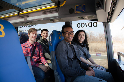 Megabus.com debuts Reserved Seating program on its double-decker bus fleet in New York, Baltimore, Washington, ...