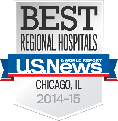 For the second consecutive year, U.S. News & World Report has ranked St. Alexius Medical Center in Hoffman Estates, Illinois and Alexian Brothers Medical Center in Elk Grove Village, Illinois among the top 10 Best Hospitals in the Chicago metropolitan area (PRNewsFoto/Alexian Brothers Health System)