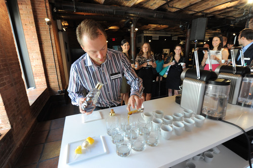 Master Sommelier and Mixologist Fred Dexheimer pairs Nespresso Grand Crus with spirits at Nespresso's first  ...