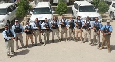 GW 1 and GW 2 teams at the GW Base in North Rumaila (PRNewsFoto/TA'AZ Group)