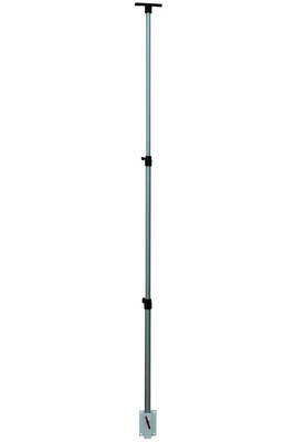 This adjustable telescoping pole is designed to be mounted to any vertical surface via an included mounting plate with four predrilled mounting holes. Users can simply attach the mounting plate to a wall, trailer, the exterior of boat cockpits etc, then slip the pole into the bracket and lock it into place. Once positioned the aluminum pole can be collapsed to 3 feet and extended to twelve feet. The top of the pole is fitted with an aluminum mounting plate that will accept any Magnalight light fixture as well as a variety of other devices.  (PRNewsFoto/Larson Electronics)