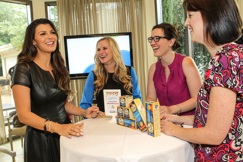 Actress Ali Landry visits with fellow moms at a party celebrating the national launch of Dr. Smith's Diaper  ...