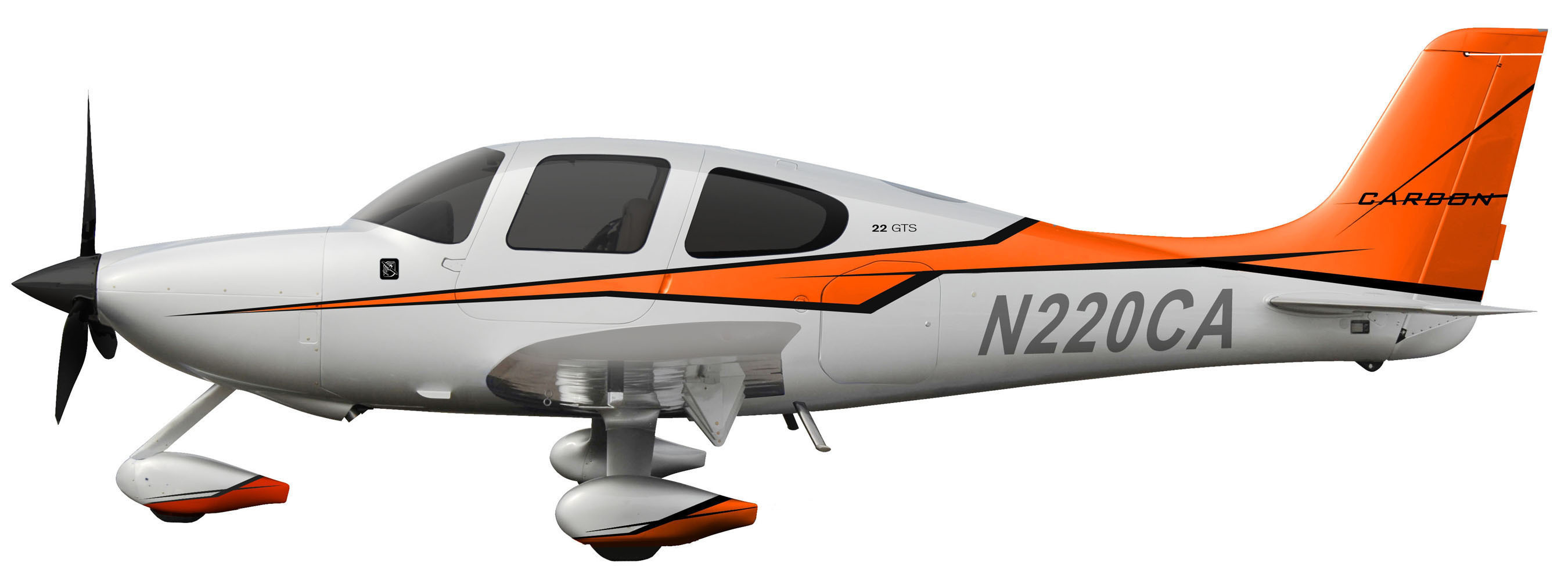 Inspired by the unmistakable style of legendary sports cars, the 2014 Cirrus Aircraft Carbon Appearance package utilizes a new palette of colors for an exhilarating new look. (PRNewsFoto/Cirrus Aircraft) (PRNewsFoto/CIRRUS AIRCRAFT)