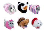 The makers of ZhuZhu Pets(R) introduce innovative, loveable and collectible ZhuZhu Puppies(TM) to the expanding Zhu-niverse. Interactive, furry characters like Murphy, Loolah, Howser and more each have unique, adorable personalities. Dress them up, play with them in their puppy-inspired accessories and collect them all!  (PRNewsFoto/Cepia LLC)