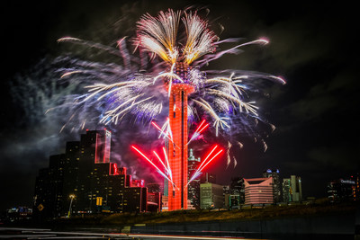 Reunion Tower Fireworks Display