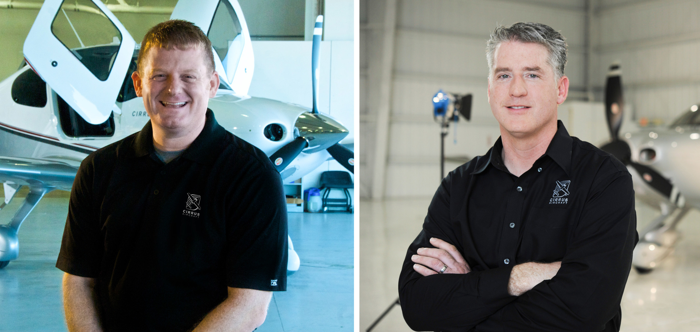 Cirrus Aircraft's Todd Simmons (left) has been promoted to President, Customer Experience and Pat Waddick has been named President, Innovation and Operations.