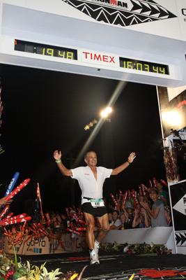 GNC congratulates Dr. Joseph C. Maroon on finishing his 5th Ironman World Championship in Kona, Hawaii!    (PRNewsFoto/GNC Holdings, Inc)