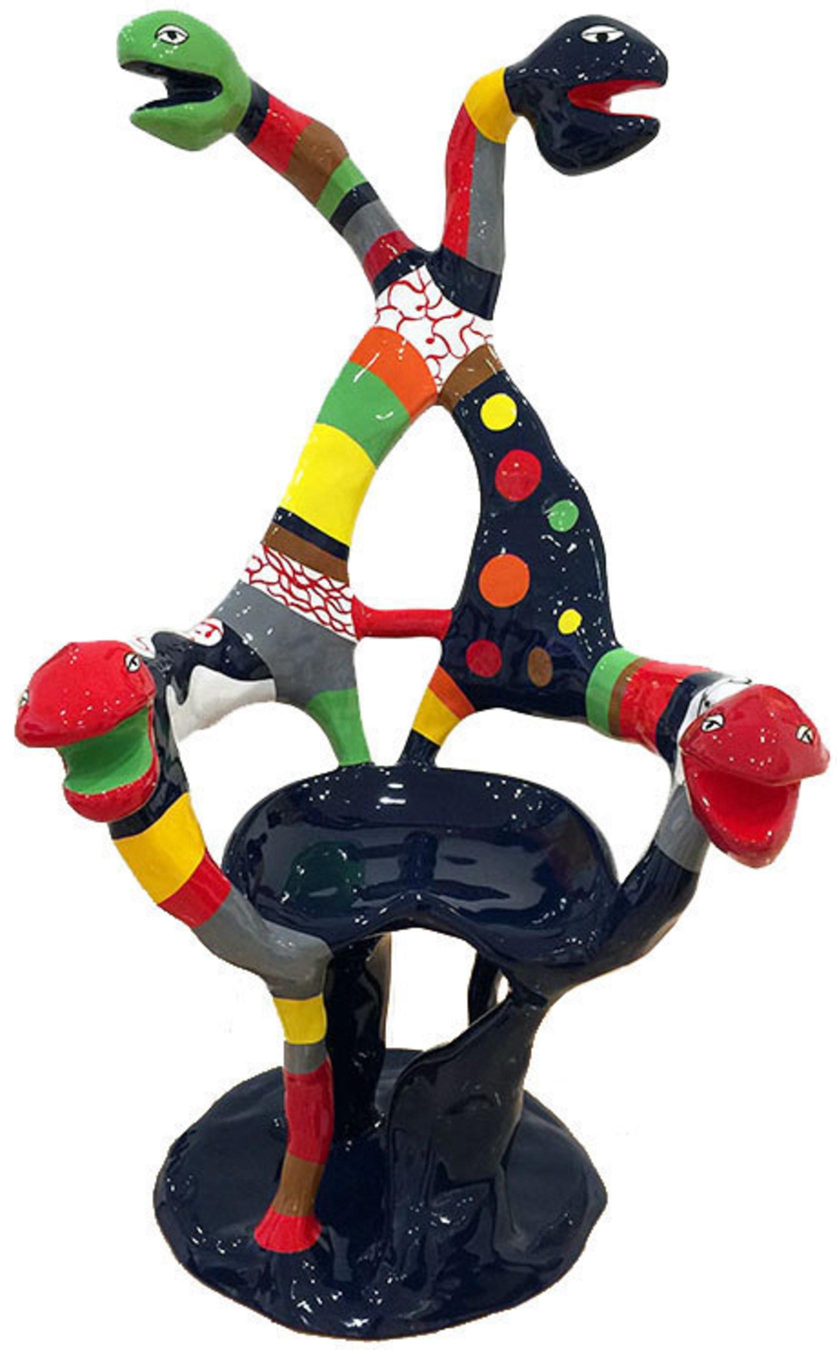 "Exhibiting at Art Miami, Jonathan Novak Contemporary Art - Niki de Saint Phalle's ""Fauteuil Serpent"",  sculpture, 1982."
