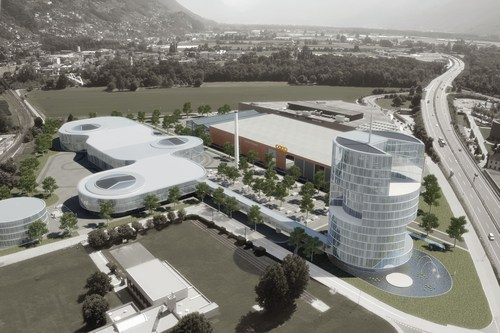 The design of QUANT City in Tenero, Switzerland by the architects Burckhardt & Partner from Basle. ...