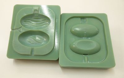 Stratasys 3D Printed injection mold for Domestos rim block