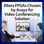 The Avaya Scopia XT7100 videoconferencing system takes advantage of Altera's powerful H.265 video codec solution, which is capable of handling full duplex encoding and decoding on a single field programmable gate array (FPGA), enabling best-in-class videoconferencing.