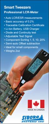 Smart Tweezers. (PRNewsFoto/Siborg Systems) (PRNewsFoto/SIBORG SYSTEMS)