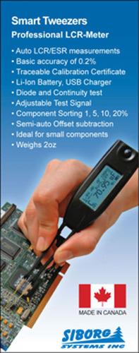 Smart Tweezers.  (PRNewsFoto/Siborg Systems)