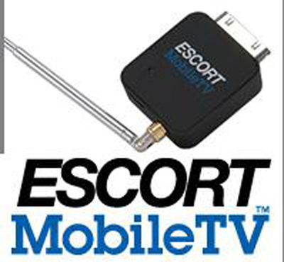 Escort Mobile TV and logo.  (PRNewsFoto/ESCORT Inc.)