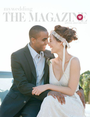 Cover of mywedding The Magazine: Spring Edition 2014 photographed by Elizabeth Messina.  (PRNewsFoto/mywedding.com)