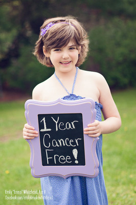"Emily ""Emma"" Whitehead celebrates one year cancer-free on May 10, 2013. A cancer immunotherapy treatment put Emma into remission after her second leukemia relapse.  (PRNewsFoto/Cancer Research Institute, Photo courtesy of Kari Whitehead Photography)"
