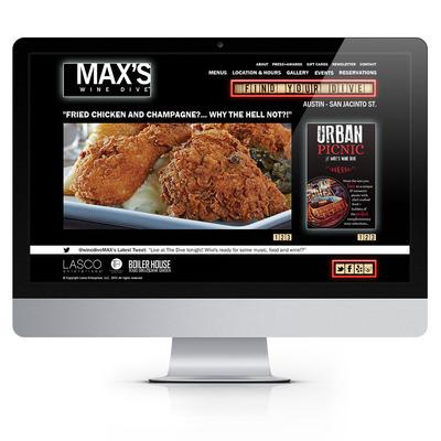 MAX's Wine Dive Website. Design by Zulu Creative.  (PRNewsFoto/Zulu Creative)