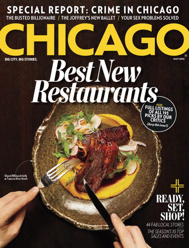 Chicago magazine May Issue, Best New Restaurants  (PRNewsFoto/Chicago magazine)