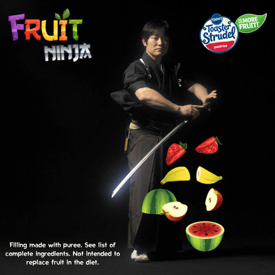 To celebrate the launch of Toaster Strudel's new product recipe, now made with more fruit, the brand has teamed up with Fruit Ninja and world-renowned swordsman Isao Machii to bring the popular Fruit Ninja app to life.