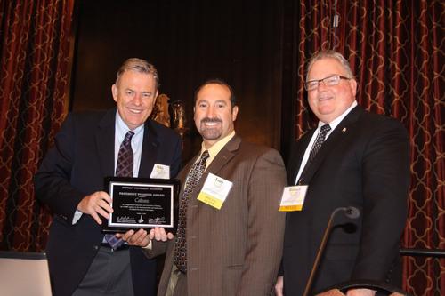 National Asphalt Pavement Association President Mike Acott (left), California Asphalt Pavement Association ...