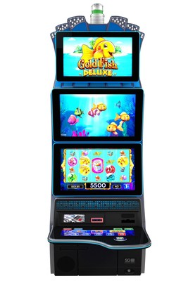 The stunning new TwinStar cabinet delivers games, such as the player-favorite Goldfish Deluxe theme, with maximum impact, keeping player engagement high.