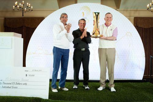 iGATE CEO golf CUP winner Thomas McInerney CEO, Genworth Financial. (PRNewsFoto/iGATE Corporation)