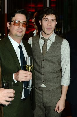 Director Roman Coppola and screenwriter Adam Blampied seen at The Premiere of Intel & W Hotels' Four Stories on Tuesday, Nov. 27, 2012, W Hotel, London. (Photo by Jon Furniss/Invision for Intel/AP Images)
