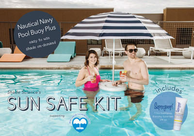 During Skin Cancer Awareness Month, Shade Science, LLC is donating a portion of sales to the Children's Melanoma Research Foundation. The special Sun Safe Package is available in May and features Pool Buoy Plus and Supergoop!.