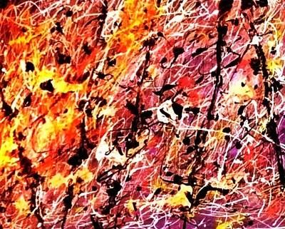 Expressionist art in the style of Jackson Pollock (PRNewsFoto/Expressionist Arts Studios)