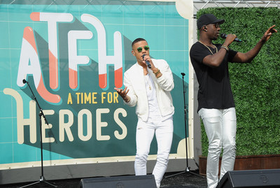 CULVER CITY, CA - OCTOBER 25: Nico and Vinz perform at the Elizabeth Glaser Pediatric AIDS Foundation's 26th Annual A Time For Heroes Family Festival at Smashbox Studios on October 25, 2015 in Culver City, California. (Photo by Angela Weiss/Getty Images for Elizabeth Glaser Pediatric AIDS Foundation)