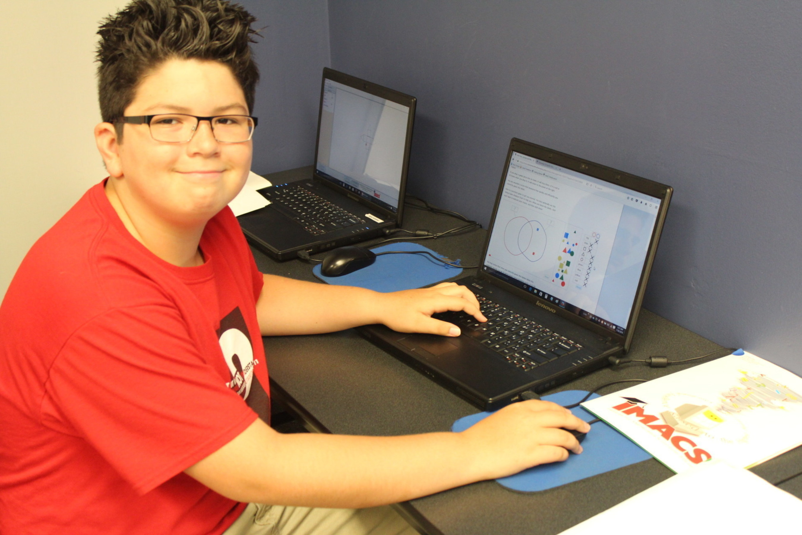 Corbin Diaz, a rising seventh grader in the BCPS/EMF program, is excited about learning advanced mathematics.