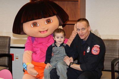 Blessing, dedication and ribbon-cutting events were among a series of celebrations and hospital tours sponsored by Alexian Brothers Health System in advance of the opening of the new Women & Children's Hospital in Hoffman Estates, Ill.  Events were held for emergency medical services personnel, police and firefighters; area colleges, universities and nursing schools; construction workers, trade unions and elected officials; social service agencies; local clergy; area families; and  physicians, volunteers and supporters.  (PRNewsFoto/Alexian Brothers Health System)